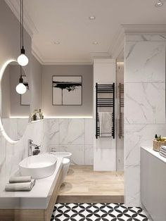 34 Ideas Bathroom Shower Wall Tile Spaces For 2019 Wood Bathroom, Bathroom Colors, Bathroom Flooring, Modern Bathroom, Bathroom Lighting, Bathroom Ideas, Bathroom Small, Mirror Bathroom, Wood Mirror