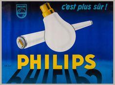 MUCKENS, P - PHILIPS, c'est plus sur! lithographic poster in colours, printed by Maron Esperonnier, Paris