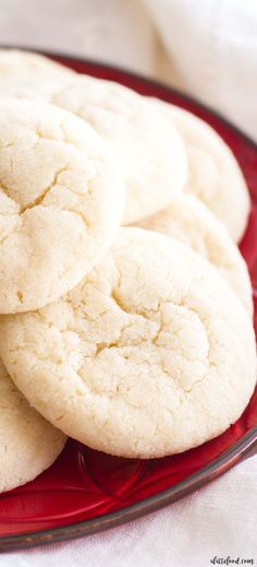 These soft and chewy sugar cookies are a Christmas cookie staple! This no-chill dough sugar cookie recipe is full of simple ingredients and comes together quickly!#cookies #christmas #sugarcookies #thanksgiving #fall