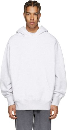 Yeezy Season 4 Boxy Fit Hoodie In Melange Grey Yeezy Hoodie, Yeezy Season 4, Urban Fashion, Mens Fashion, Yeezy Outfit, Hoodies, Sweatshirts, Lounge Wear, Grey