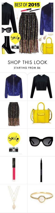 """Untitled #620"" by nastenkakot ❤ liked on Polyvore featuring Topshop, MSGM, Rebecca Minkoff, Karen Walker, NARS Cosmetics, Urban Decay, Forever 21, Irene Neuwirth and Nam Cho"