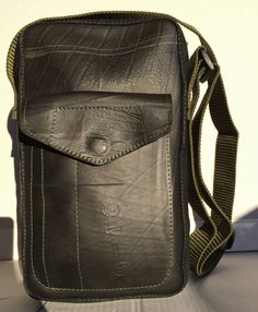 Shoulder bag Marc made Recycled Rubber Tyres by masmillasrecycled