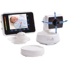 """SummerInfant BabyTouch Digital Video Monitor. 3.5"""" color LCD w/ black & white night vision / Touch-screen menu for remote pan/scan/zoom / Up to 400 feet / Talk-back feature/ 10-hr rechargeable battery."""