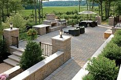 Patio, Fireplace, Seating. Beautiful design. Triad Associates, Inc. Alex Brissette's Design Ideas, Pictures, Remodel, and Decor