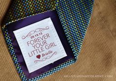 Remind dad on your wedding day, his birthday or for Father's Day that you are forever his little girl with this custom 2x2 patch/label that is sewn into his suit or on the back of his tie. Available in 30 colors.T H E • N I T T Y • G R I T T Y– Size: 2 inches by 2 inches– 30 Colors available (see last image for examples)– Printed on a 100% cotton colorfast sheet that is washer and iron-friendly. – Ships with needle and matching threadYou may customize the wording on the label…