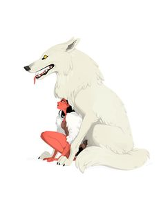 Painted the girl and her wolf.