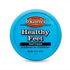 O'Keeffe's for Healthy Feet Foot Cream, oz., Jar at Personal Gear Products Search - okeeffes for healthy feet foot cream is a concentrated foot cream that heals relieves and repairs extremely dry cracked feet containing a high concentration of glycerin o Dry Cracked Heels, Cracked Hands, Cracked Skin, Best Foot Cream, Foot Peel, Soft Feet, Thing 1, Skin Cream, Cream Cream