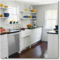 small kitchen shelving design - Google Search