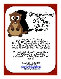 Groundhog Day: Matching cards game but don't want to get old man winter