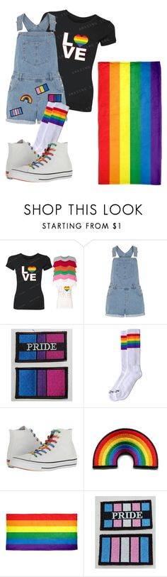 """Pride Outfit"" by abbie-tordoff ❤ liked on Polyvore featuring Dorothy Perkins and Converse"