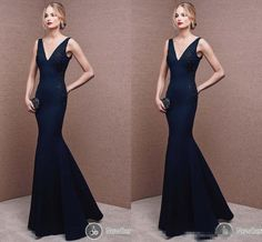 Hot Sale 2016 Mermaid Mother Of The Bride Dresses Deep V Neck Appliques Floor Long Navy Satin Formal Evening Occasion Gowns For Women Plus Size Formal Mother Of The Bride Dresses Plus Size Mother Of The Bride Dresses Canada From Whiteone, $124.8| Dhgate.Com