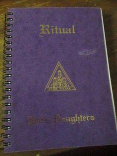 International Order of Job's Daughters Ritual Book Masonic used Jobs Daughters, Freemason, Nostalgia, Childhood, Books, Ebay, Infancy, Libros, Book