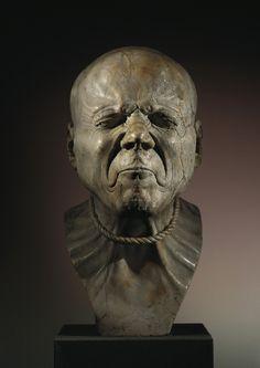 """Franz Xaver Messerschmidt (1736–1783) """"Character Heads"""" Series, """"Ein Erhängter"""", Belvedere, Austria."""