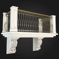Balcony Grill Design, Balcony Railing Design, Modern Villa Design, Classic House Design, Home Building Design, Home Room Design, Balustrade Balcon, House Outside Design, Iron Balcony