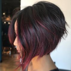 A-Line Bob Haircut - Trendy bob hairstyle for style-conscious and extravagant women - women& a-line bob style balayage - Bob Haircut For Fine Hair, Line Bob Haircut, Bob Hairstyles For Fine Hair, Hairstyles 2018, Black Women Short Hairstyles, Braided Ponytail Hairstyles, Haircut Short, Wedding Hairstyles, Inverted Bob Haircuts