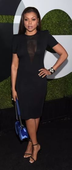 The actress couldn't be further from Cookie Lyon in the style department, clinging to her trusty LBD's that show off her toned figure and just enough – not too much jewelry.  Taraji's personal style may not match Cookie's, but one thing the actress does have in common with her TV character is loyalty.  For Cookie, it's loyalty to her family, for Taraji, it's to Alexander Wang, who outfitted her for several red carpet appearances this year.