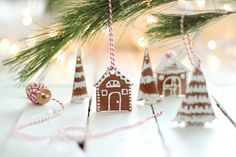 "DIY ""Gingerbread"" ornaments made from brown polymer clay! Must try for next year!"