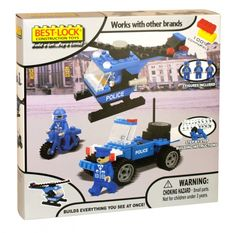 Best-lock construction toys playset police