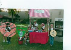 Troop516 Girl Scout cookie booth.