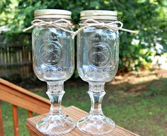 shabby chic redneck wedding | Set of 2 Redneck Wine Glasses, Rustic Wedding, Country Chic. $15.00 ...