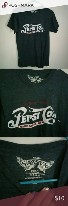 💖PEPSI TEE....HER FAVORITE,  I LIKE COKE LOL Gently used Pepsi tee with like a burnout look to it ....size small ...only word about two times..... excellent used condition savvy Tops