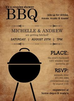 engagement party invite.. couples shower, interesting idea, cool!