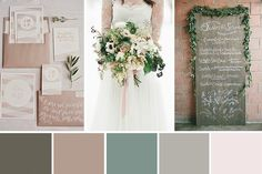 Simple and elegant, this Beautiful Rustic Wedding Palette inspiration combines a whole host of beautiful organic elements.