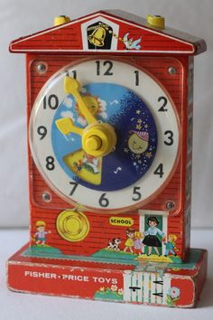 Fisher Price Music Box Teaching Clock #998.
