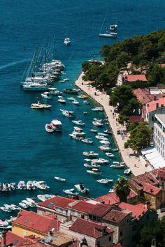 Hvar, Croatia Jeremiah 33, City Buildings, Beautiful Places To Visit, Aerial View, Hd Photos, Places Ive Been, Europe, River, Hvar Croatia
