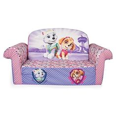 Get cozy with the Paw Patrol themed 2-in-1 Flip Open Sofa from Marshmallow! It easily transforms from a sofa into a lounger. Kids can easily transform their sofa into a lounger all by themselves with ...