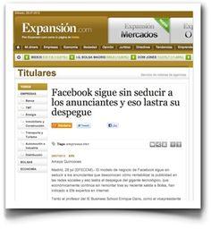 Hablando sobre la publicidad en redes sociales, en EFE