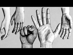 How to Draw Hands - 5 Different Ways - YouTube