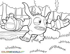 Skylanders Giants Pop Fizz Coloring Page - Free Coloring Pages Online | 182x236