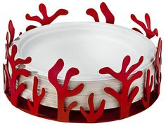 Buy the Paper plate holder Mediterraneo from Alessi, on Made in Design - 48 to 72 hours delivery. Paper Napkins, Paper Plates, Paper Plate Holders, Alessi, Garden Table, Pie Dish, Serving Bowls, Kitchen Decor, Objects