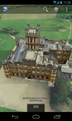 Downton Abbey from Google earth. Highclere Castle.