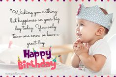 Here we are sharing Happy Birthday Messages to your needs. We have articles on Birthday topics like Happy Birthday SMS, Birthday Messages, Bday Wishes Image Happy 1st Birthday Wishes, 1st Birthday Quotes, Birthday Wishes For Nephew, 1st Birthday Message, Birthday Message To Myself, Wishes For Baby Boy, Birthday Captions, Birthday Wishes Messages, My Son Birthday
