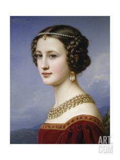 Portrait of Cornelia Vetterlein, 1828 Giclee Print by Joseph Karl Stieler at Art.com