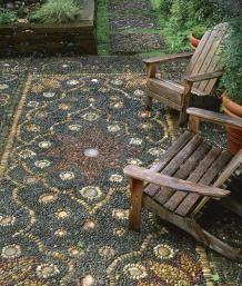 Create a Pebble Mosaic   Fine Gardening