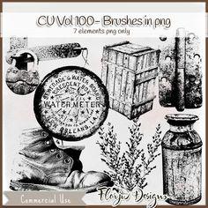 CU vol 100 Brush (png format) , cudigitals.com, cu, commercial, scrap, scrapbook, digital, graphics,