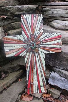 Image detail for -Mosaic Cross Center Cut Design Mixed Retro Browns Broken China by Red . Mirror Mosaic, Mosaic Art, Mosaic Glass, Mosaic Tiles, Paper Mosaic, Mosaic Crosses, Wall Crosses, Mosaic Crafts, Mosaic Projects