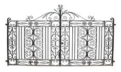 PAIR OF ANTIQUE WROUGHT IRON DRIVEWAY GATES - UK Architectural Heritage - 292 cm