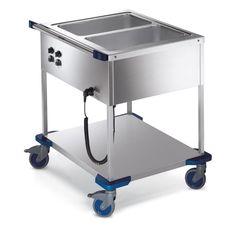 GTARDO.DE:  Speisenausgabewagen für 2 x GN 1/1-200, beheizbar, 1.4kW, 900x749x933 mm 1 124,00 €