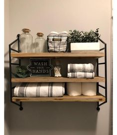 Wall Sign Wash Your Hands Black – Hearth & Hand™ With Magnolia : Target What is Decoration? Decoration is the … Rustic Bathroom Decor, Bathroom Styling, Bathroom Ideas, Farmhouse Decor, Funny Bathroom, Bathroom Wall Shelves, Farmhouse Kitchens, Bathroom Cabinets, Bathroom Organization