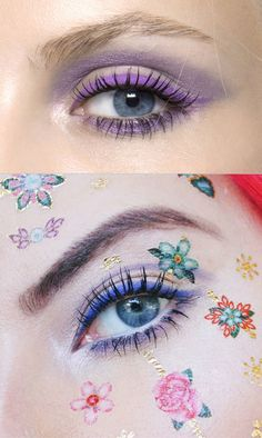 My take this purple eye look. I added some fake tattoos and went for a more indigo hue Edgy Outfits, Grunge Outfits, South African Fashion, Fake Tattoos, Queen, Beauty Trends, Just Do It, Pink Hair, Indigo