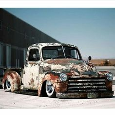 """Vintage Trucks When Don of Yorkville Auto bought his 1950 Chevrolet from Vintage U-Pick in Florida, he was under the impression it was a """"strong running, turn key truck."""" When it arrived it was more of a sickly r… 54 Chevy Truck, Chevy Pickup Trucks, Classic Chevy Trucks, Gm Trucks, Chevy Pickups, Chevrolet 3100, Chevrolet Trucks, Hot Rod Trucks, Cool Trucks"""