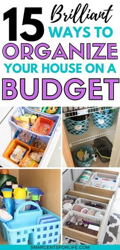 15 Clever Dollar Store Organizing Hacks - Whether you're looking to organize your kitchen, bathroom, closet, bedroom or pantry, here are 15 dollar store organizing ideas! Organize your entire house on