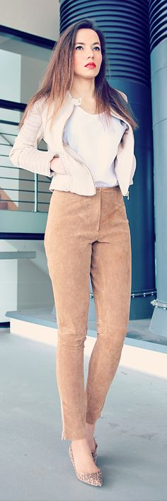 Suede Pants Styling