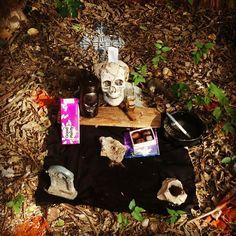 My altar to The Baron Samedi. Ugly Shyla   voodoo,the baron,ritual,pagan,occult,