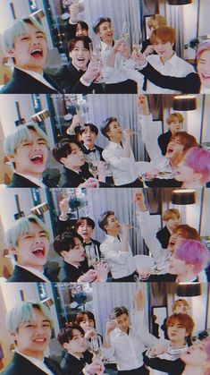 The way jimin drank that champagne Bts Taehyung, Bts Bangtan Boy, Bts Jimin, Foto Bts, V Bts Wallpaper, Bts Group Photo Wallpaper, Bts Group Photos, Les Bts, Bts Aesthetic Pictures