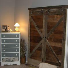 Our new sliding barn doors!